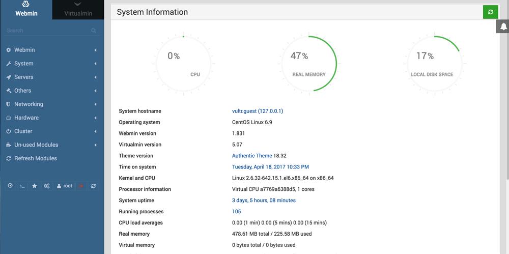 免费主机管理面板Webmin