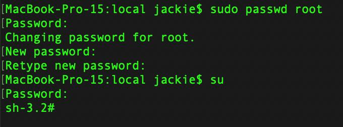 macos启用root用户